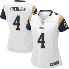 92f7335d9 Nike Elite Greg Zuerlein White Women s Jersey - Los Angeles Rams  4 NFL Road