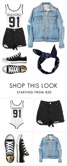 """Untitled #92"" by gimevelazquez on Polyvore featuring Boohoo and Converse"