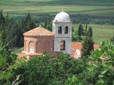 The century Monastery of Saint Mary at Apollonia, Albania, is noted for the icons in the church and museum, the capitals in the narthex, and the frescoes in the rectory. Albania, Palermo, Fresco, Taj Mahal, Coastal, Mary, Museum, Icons, Building