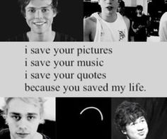 I always thought it was crazy how people said that like a famous person saved them but now I truly understand and I am so so so thankful to these 4 lovely boys I love you guys so much :)