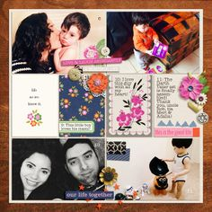 "Digital Project Life Layout by raquels using "" Life As We Know It "" kit by Sahlin Studio and Sugarplum Paperie"