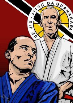 Grandmaster Helio Gracie and Royce Gracie #bjj #jiujitsu