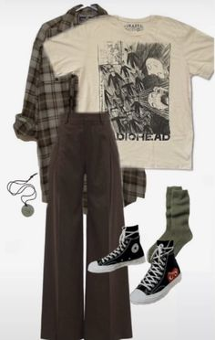 Indie Outfits, Edgy Outfits, Teen Fashion Outfits, Retro Outfits, Grunge Outfits, Cute Casual Outfits, Vintage Outfits, 90s Outfit, Grunge Fashion