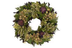 """Purple Artichoke Heaven 16"""" Wreath on OneKingsLane.com"""