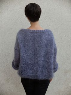 Tricolyne: N ° 1 Mo Erster Pullover / Tänzerpullover! Knitting Wool, Hand Knitting, Joe Dimaggio, Big Knits, Knitwear Fashion, Pullover, Diy Clothing, Handmade Clothes, Kind Mode