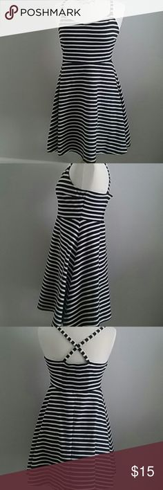 297dfbbde0c7 Black white stripes Old Navy skater goth sundress The perfect summer dress,  flip-flops