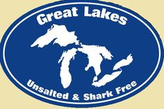 Great Lakes - Unsalted and Shark Free! (I have this magnet from the Michigan store in Frankenmuth :-) Lake Michigan, Michigan Travel, State Of Michigan, Detroit Michigan, Northern Michigan, Wisconsin, Michigan Facts, Detroit Zoo, The Mitten State