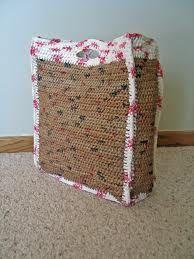 crochet PLARN shopping bag