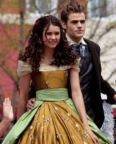 Elena Gilbert Founders Day Gown Vampire Diaries. Is it just me or do they both look super young here?