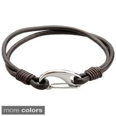 Genuine Leather 'Mystic Layers' Bracelet | Overstock.com Shopping - The Best Deals on Men's Bracelets