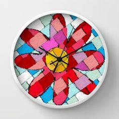 Flower Wall Clock by Escrevendo e Semeando - $30.00