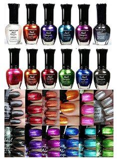 Kleancolor Nail Polish - Awesome Metallic Full Size Lacquer (Set of 12 Pieces) #nails #nailart #nailpolish #nailstagram #naildesigns