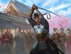 For Legend of the Five Rings Fantasy Samurai, Samurai Concept, Samurai Art, Character Art, Character Design, L5r, Fantasy Pictures, Anime Characters, Fictional Characters