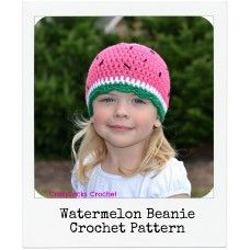 Watermelon pattern, easily made in red for a boy  www.crazysockscrochet.com