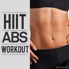 ABS High Intensity Interval Training - A workout designed to burn fat, tone, and define ABS. Take the challenge! #abworkout #fitness