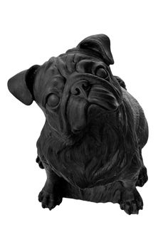 The Pug by Ottmar Hörl - Lime Lace £105 #pug #sculpture #dog #statue #ornament
