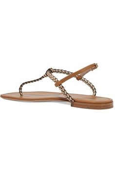 AERIN - Braided Leather Sandals - Tan - IT