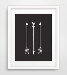 Black Arrow Print Black and White Arrow Wall by MelindaWoodDesigns #blackarrows #arrowsprintables