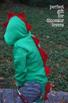Dinosaur Jacket Hoodie With Tail Halloween Costume by suntaree, $38.00
