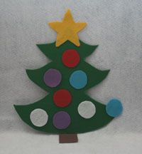 Large Felt Christmas tree for the wall for toddlers to stick felt decs too.  Lots of fun! http://www.allkidsnetwork.com/crafts/christmas/felt-christmas-tree.asp