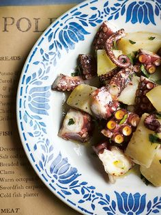 Warm octopus salad from the amazing Polpo cookbook. Yummie.