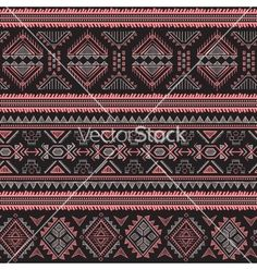 Pink Tribal vintage retro  seamless vector pattern by transia on VectorStock®