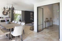 Woning VV   AP/ART Architecten Living Room Decor, Dining Room, Dutch House, Cabinet Plans, Belgian Style, Home Kitchens, Ap Art, House Styles, Interior