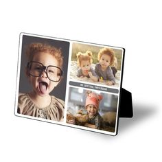Personalize this easel art with your own photos!   #FathersDay  Treat.com