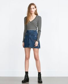 Image 1 of RIBBED TOP from Zara