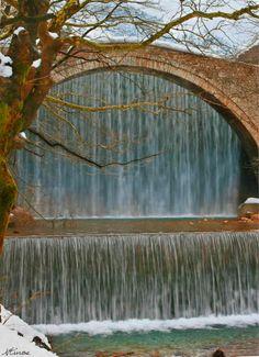 Old stone bridge of Palaiokaria, Greece