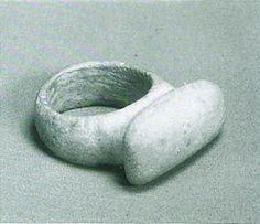 Jomon-era. Stone ling. Kitaduka Ishikawa Japan.