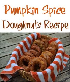 Pumpkin Spice Doughnuts Recipe! {Yum!} - the perfect addition to your Fall breakfast or dessert! #recipes