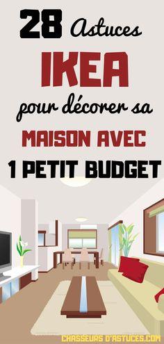 28 ASTUCES IKEA POUR DÉCORER VOTRE MAISON AVEC UN PETIT BUDGET. Soyons honnêtes, décorer une maison peut rapidement devenir chère ! Mais si vous ne voulez pas dépenser une fortune en décoration, il existe une multitude d'astuces pour le meubler avec un petit budget ! Dans cet article, nous nous sommes concentrés sur des astuces de l'enseigne IKEA. Il faut savoir que beaucoup de meubles IKEA peuvent être totalement transformés. Vous allez donc découvrir comment décorer votre maison pièce…