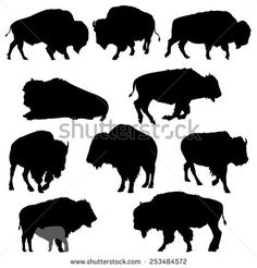 Find Buffalo American Bison Silhouette Collection stock images in HD and millions of other royalty-free stock photos, illustrations and vectors in the Shutterstock collection. Thousands of new, high-quality pictures added every day. Animal Silhouette, Silhouette Vector, Silhouette Images, Buffalo S, Buffalo Logo, Indian Symbols, American Bison, Native American, Deco Nature