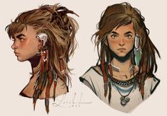 More concept art of Aloy, the lead character of Horizon: Zero Dawn. I worked on this character together with the rest of the character team for a few months in 2013. It was a huge honor working wit...
