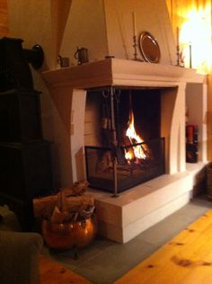 Fireplace in a cottage in Rauland Norway