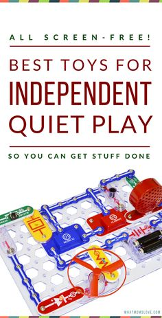 Best Quiet Time Activities & Toys For Kids   Best Toys for Independent Play   Ways To Encourage Quiet Time For Toddlers, Preschoolers, Kindergarteners & up   Great Ideas For Quiet Play   Boredom Busters For Kids   Use these toys for a smooth transition from naps to quiet time!   Best No Screen Toys For Kids   Click to download report from What Moms Love