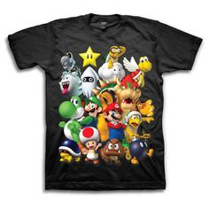 Nintendo Characters T-Shirt, $19, now featured on Fab. by freeze