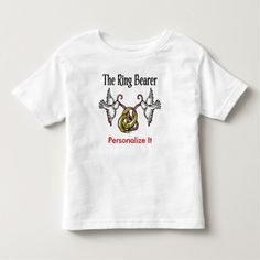 Personalized Ring Bearer Gifts Toddler T-shirt