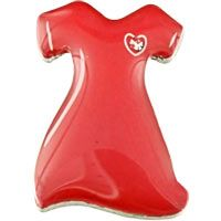 Red Dress Crystal Heart Health Pin at The Breast Cancer Site