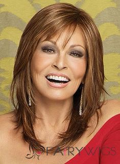 Raquel Welch wigs are the ultimate in glamour. You'll love the instant beauty enhancement achieved from this wide variety of Raquel Welch wigs. Haircuts For Fine Hair, Hairstyles For Round Faces, Bob Hairstyles, Trendy Hairstyles, Wedding Hairstyles, Bob Haircuts, Natural Hairstyles, Hairstyles For Over 40, Layered Haircuts For Medium Hair Round Face