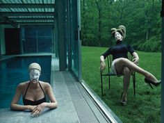 visionaries steven klein and françois nars collaborate to take our faces to amazing places