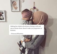 """If your such a """"feminist"""" why are you putting down another woman's dreams? Muslim Couple Quotes, Muslim Love Quotes, Love In Islam, Muslim Couples, Religious Quotes, Islamic Quotes, Hadith, Alhamdulillah, True Quotes"""