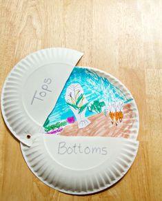"Science/Art activity connected to the children's picture book ""Tops  Bottoms"" by Janet Stevens"