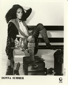 """detroitlib: """" Happy Birthday LaDonna Adrian Gaines, better known by her stage name, Donna Summer! (December 1948 – May Portrait of singer Donna Summer. Printed on front: """"Donna Summer. Dance Music, Female Singers, Music Artists, Famous Artists, Beautiful Actresses, Classic Hollywood, Rock And Roll, Muse, African"""