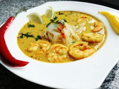 Fish Soup, Asian Recipes, Ethnic Recipes, Lunch Recipes, Thai Red Curry, Seafood, Snacks, Cooking, Soups