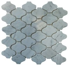 Marble Lantern Shaped Mosaic Tile X White 1 Carton 15 Sheets Contemporary Gl Stone Ltd