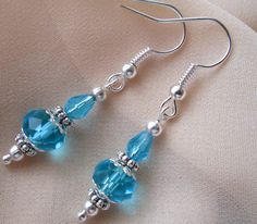 Silver Earrings With Genuine Swarovski Crystals by xabid on Etsy, $19.00