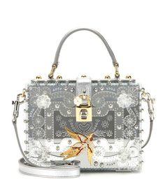 892b128b82f4 Dolce   Gabbana Dolce Large embellished shoulder bag Dolce   Gabbana