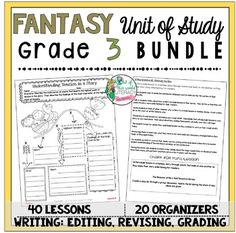 bundles are available for grades 2-6. Fantasy Reading and Writing Unit: Grade 4...40 Lessons with CCSS!! Teach Common Core State Standards in realistic fiction writing and reading with this month long unit of study. It includes 40 lessons all linked to CCSS, chart examples, and much more!
